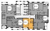 Планировка 1-комн. квартиры 39,70 м2
