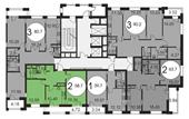 Планировка 2-комн. квартиры 58,70 м2