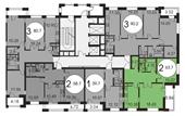 Планировка 2-комн. квартиры 63,70 м2