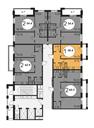 Планировка 1-комн. квартиры 38,40 м2