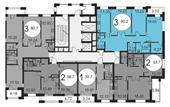 Планировка 3-комн. квартиры 90,20 м2