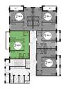 Планировка 2-комн. квартиры 62,90 м2