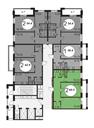 Планировка 2-комн. квартиры 60,20 м2
