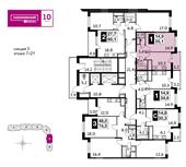 Планировка 1-комн. квартиры 35,30 м2