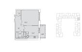 Планировка 1-комн. квартиры 49,00 м2