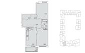Планировка 2-комн. квартиры 82,00 м2