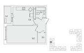 Планировка 1-комн. квартиры 40,00 м2