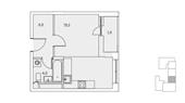 Планировка 1-комн. квартиры 30,00 м2