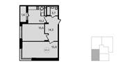 Планировка 2-комн. квартиры 60,00 м2