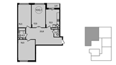 Планировка 3-комн. квартиры 100,00 м2