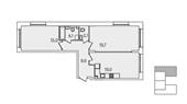Планировка 2-комн. квартиры 70,00 м2