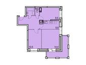 Планировка 2-комн. квартиры 57,30 м2