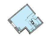 Планировка 1-комн. квартиры 30,40 м2
