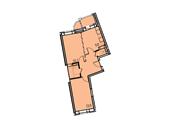 Планировка 2-комн. квартиры 53,90 м2