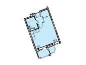 Планировка 1-комн. квартиры 30,80 м2