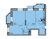 Планировка 3-комн. квартиры 68,30 м2