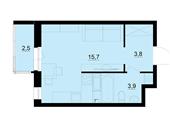 Планировка 1-комн. квартиры 24,20 м2