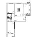 Планировка 3-комн. квартиры 76,55 м2