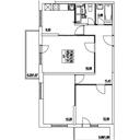 Планировка 3-комн. квартиры 71,41 м2