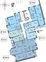 Планировка 2-комн. квартиры 76,60 м2