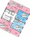 Планировка 2-комн. квартиры 64,70 м2
