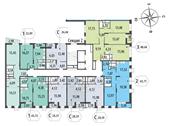 Планировка 3-комн. квартиры 87,64 м2