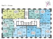 Планировка 3-комн. квартиры 90,73 м2