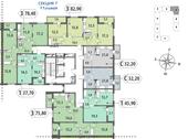 Планировка 1-комн. квартиры 32,21 м2