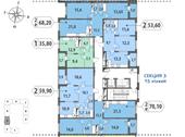 Планировка 1-комн. квартиры 35,95 м2