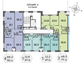 Планировка 3-комн. квартиры 93,10 м2