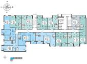 Планировка 1-комн. квартиры 38,20 м2