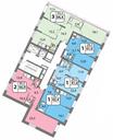 Планировка 1-комн. квартиры 42,40 м2