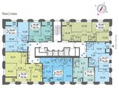 Планировка 2-комн. квартиры 67,54 м2