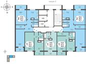 Планировка 2-комн. квартиры 74,80 м2