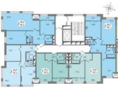 Планировка 1-комн. квартиры 39,21 м2