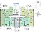 Планировка 1-комн. квартиры 47,76 м2
