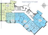 Планировка 3-комн. квартиры 83,70 м2
