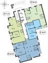 Планировка 2-комн. квартиры 69,70 м2