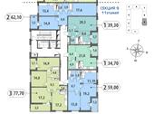 Планировка 2-комн. квартиры 58,92 м2