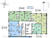 Планировка 1-комн. квартиры 37,71 м2