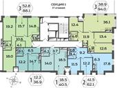 Планировка 2-комн. квартиры 62,10 м2
