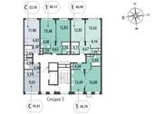 Планировка 1-комн. квартиры 38,70 м2