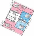 Планировка 1-комн. квартиры 41,50 м2