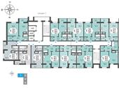 Планировка 1-комн. квартиры 42,70 м2