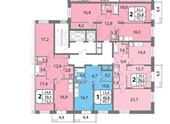 Планировка 2-комн. квартиры 75,10 м2