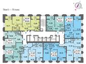 Планировка 1-комн. квартиры 43,19 м2