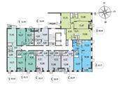 Планировка 1-комн. квартиры 47,55 м2
