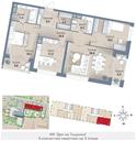 Планировка 3-комн. квартиры 126,60 м2