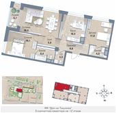 Планировка 3-комн. квартиры 109,80 м2