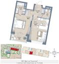Планировка 1-комн. квартиры 59,80 м2